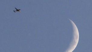 طائرة بدون طيار اسرائيلية من طراز هرمز فوق سماء غزة 31 يوليو 2014 (AFP/JACK GUEZ)