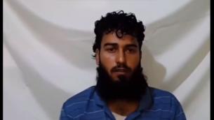 صورة شاشة من تسجيل شريف الصفوري وهو يعترف بالتعاون مع اسرائيل