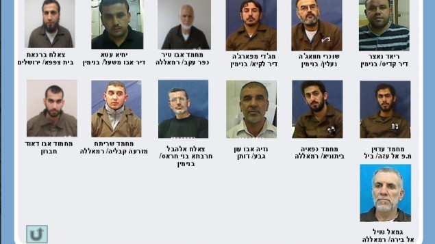 نشطاء حماس المشتبه بهم المعتقلين من قبل الشاباك   في مايو ويونيو، 2014. نشرت الصورة عند نشر تفاصيل مؤامرة للاطاحة حماس للسلطة الفلسطينية واستهداف إسرائيل في 18 آب   (photo credit: Shin Bet)