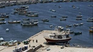 ميناء مدينة غزة  18 أغسطس 2014 (AFP/Roberto Schmidt)