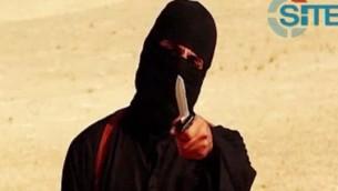 الجهادي جون، قبل قطع رأس الصحفي الامريكي ستيفن سوتلوف، 2 سبتمبر 2014 (AFP PHOTO/SITE Intelligence Group/HO)