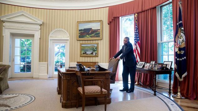 باراك اوباما في البيت الابيض، يوليو 2014  Pete Souza/ White House