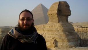 Journalist Steve Sotloff in Egypt, 2011 (photo credit: Facebook/Oren Kessler)