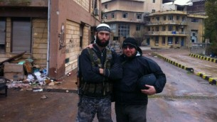 Journalist Steve Sotloff in Syria, 2012 (photo credit: Facebook/Oren Kessler)