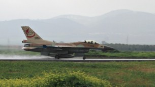 An Israeli F-16 takes off at Ramat David Airbase. (photo credit: Ofer Zidon/Flash90)