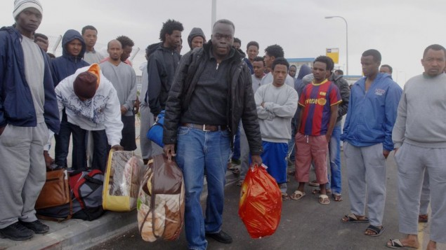 مهاجرون أفارقة في اسرائيل 26 يناير 2014 (فلاش 90)