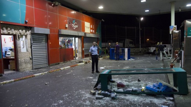 اضرار الاشتباكات في القدس 7 سبتمبر 2014 Yonatan Sindel/Flash90