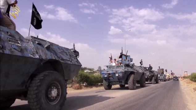 قافلة مقاتلو واغلام داعش، من شاشة اليوتوب