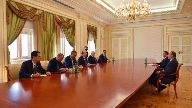وزير الدفاع موشيه اجتماع مع الرئيس الأذربيجاني 10 سبتمبر 2014   Ariel Harmoni/Defense Ministry