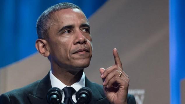 الرئيس الامريكي باراك أوباما يتحدث في المؤتمر 44 السنوي  Congressional Black Caucus Foundation's  سبتمبر 2014   AFP/Nicholas KAMM