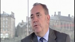 اليكس سالموند على شاشة البي بي سي 14 سبتمبر creen capture  BBC
