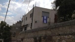 بيت في سلوان حصل عليه اليهود في الفترة الاخيرة 2 اوكتوبر 2014  (الحانان ميلر/ طاقم تايمز اوف اسرائيل)