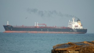 Illustrative photo of a crude oil tanker (photo credit: Shay Levy/Flash90)