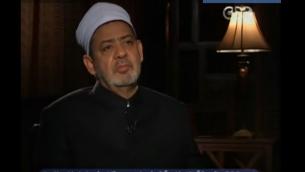 الشيخ احمد الطيب شيخ الازهر (من شاشة اليوتوب)