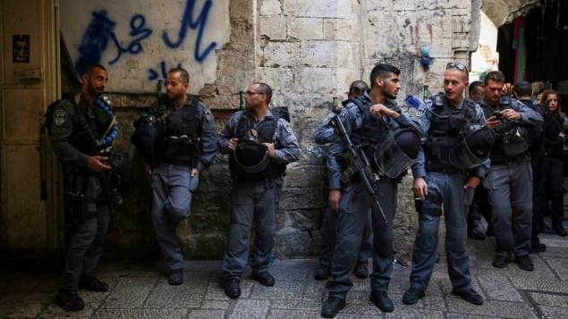 صورة توضيحية، شرطة الحدود في البلدة القديمة في القدس 12 اوكتوبر 2014 Hadas Parush/Flash90