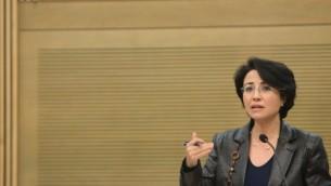 عضو الكنيست حنين زعبي (ميريام الستير/ فلاش ٩٠)