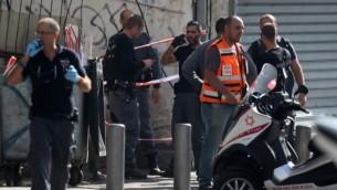 موقع هجوم الطعن في تل ابيب 10 نوفمبر 2014 (فلاش 90)