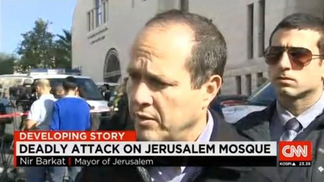 السي ان ان تخطئ بتعريف الهجوم وددعي انه شن على مسجد وليس كنيس (صورة شاشة,  HonestReporting)