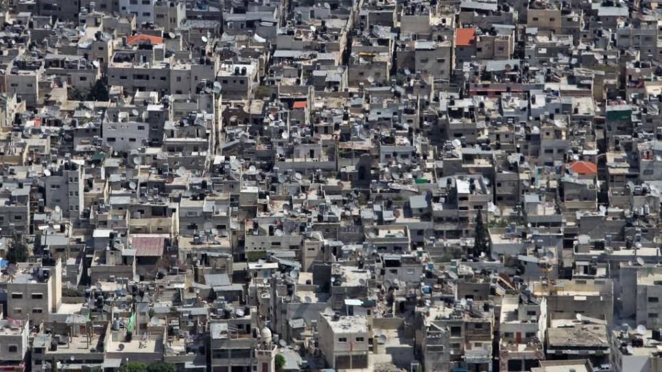 مخيم بلاطة قضاء نابلس، يعتبر المخيم ذو الكثافة السكانية الاعلى في الضفة الغربية حيث يحتوي 30,000 نسمة (بعدسة ناتي شوحاط/ فلاش 90)