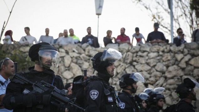 شرطة الحدود اثناء مظاهرة في القدس 12 نوفمبر 2014  Hadas Parush/Flash90