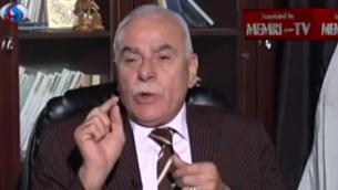 مستشار عباس, سلطان ابو العينين (من شاشة يوتوب/ ميمري)