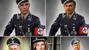 سياسيون اسرائيليون بالبس النازي Screen capture