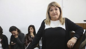 شولا زاك في المحكمة القطرية 3 نوفمبر 2014  Gili Yohanan/POOL