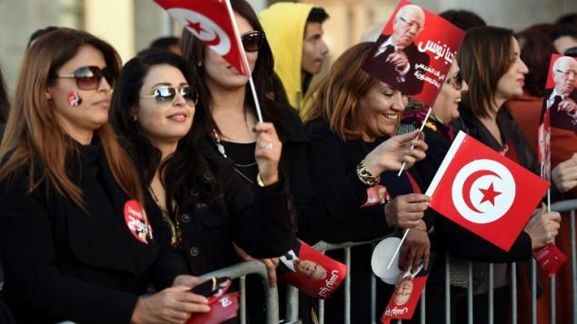 صورة توضيحية لنساء تونسيات، 22 ديسمبر 2014  (AFP PHOTO / FETHI BELAID)