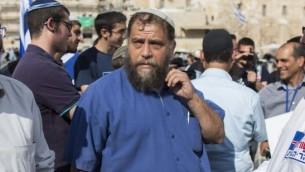بنزي غوبشتين، رئيس المجموعة العنصرية لهفا في القدس 30 اوكتوبر 2014Yonatan Sindel/Flash90
