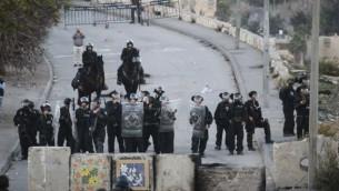 صورة توضيحية لشرطة الحدود في العيساوية 12 نوفمبر 2014 (فلاش 90)
