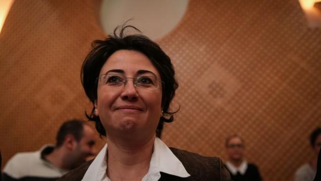 عضو الكنيست حنين زعبي في المحكمة، 9 ديسمبر 2014  Hadas Parush/Flash90
