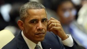 الرئيس الأمريكي باراك أوباما، 13 نوفمبر 2014 (AFP/Christophe ARCHAMBAULT)