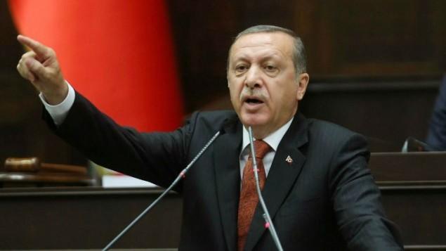 رئيس الوزراء التركي رجب طيب أردوغان في البرلمان في أنقرة، 15 يوليو 2014  AFP/ADEM ALTAN