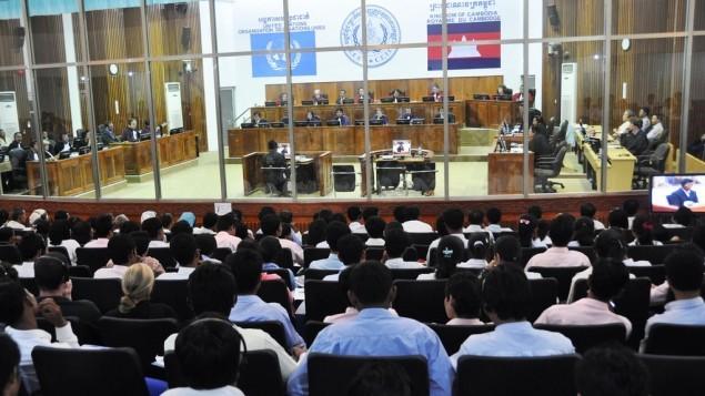 قاعة محكمة في المحكمة الجنائية الدولية في لاهاي  CC BY Extraordinary Chambers in the Courts of Cambodia, Flickr