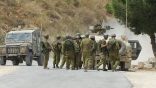 صورة توضيحية، جنود الجيش الاسرائيلي على الحدود مع لبنان (فلاش 90)