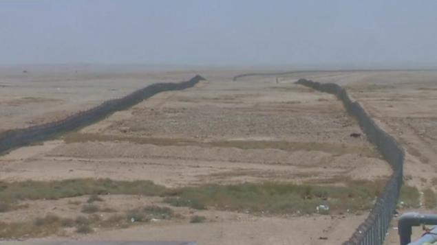 الحدود العراقية السعودية  screen capture: Daily Mail