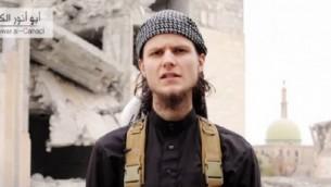 جهادي الدولة الإسلامية  جون ماغواير، وهو مواطن كندي من أوتاوا، يدعو لشن هجمات على كندا لمشاركتها في الضربات الجوية التي تقودها الولايات المتحدة على داعشscreen capture/LiveLeak