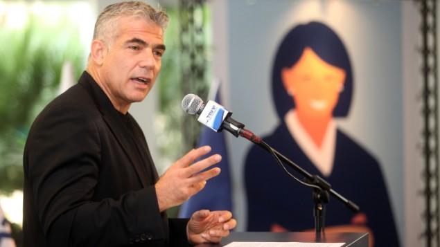 زعيم حزب يش عاتيد, يائير لبيد ديسمبر 2014 (فلاش 90)