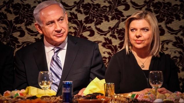رئيس الحكومة بنيامين نتنياهو وزوجته سارا نتنياهو 2013 (فلاش 90)