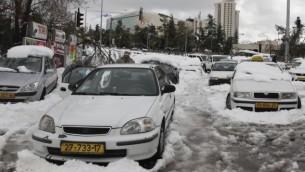 العاصفة الثلجية في القدس يوم الجمعة 13 ديسمبر 2013  (فلاش 90)
