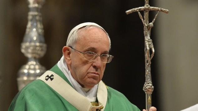 البابا فرنسيس في الفاتيكان، 15 فبراير 2015 (ANDREAS SOLARO / AFP)