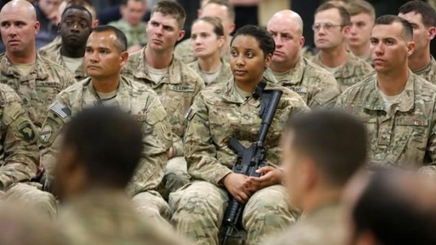 جنود امريكيون في افغانستان، 22 فبراير 2015 (JONATHAN ERNST / POOL / AFP)