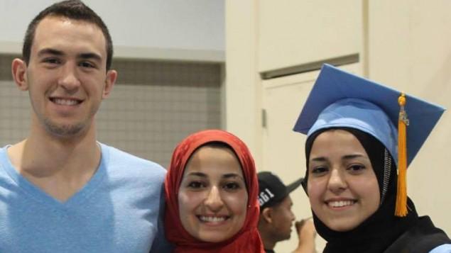ضحايا القتل في تشابل هيل ضياء شادي بركات (23 عاما) وزوجته يسر محمد ابو صالحة (21 عاما) وشقيقتها رزان محمد ابو صالحة (19 عاما) ، فيسبوك