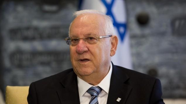الرئيس الاسرائيلي روفين ريفلين في مقر الرئيس في القدس، 22 سبتمبر 2014   (فلاش 90)