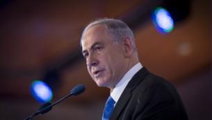 رئيس الوزراء بنيامين نتنياهو في القدس، 16 فبراير 2014 (Miriam Alster/FLASH90)