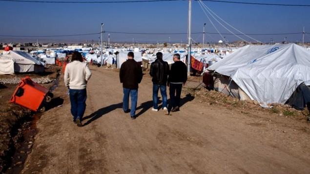 صورة توضيحية لصفوف من خيام اللاجئين في كردستان العراق  courtesy/Kelsey Cannon