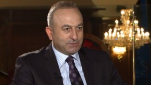 مولود جاويش أوغلو، وزير خارجية تركيا (من شاشة اليوتوب)