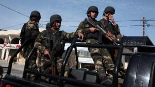 صورة توضيحية لقوات الأمن الفلسطينية (Issam Rimawi/Flash90)