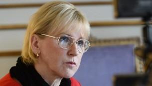 وزيرة الخارجية السويدية مارغو فالستروم، 11 مارس 2015 ( AFP PHOTO / TT NEWS AGENCY / Claudio Bresciani)