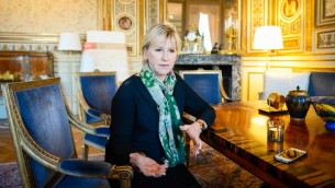 وزيرة الخارجية السويدية مارغو فالستروم، 31 اكتوبر 2014 (JONATHAN NACKSTRAND / AFP)